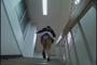 純白パンティー 階段もっこりパンチラ盗撮 9
